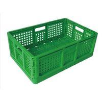 安全興業 折りたたみコンテナ 10個 緑 4560172729986-10 1箱(10個入)(直送品)