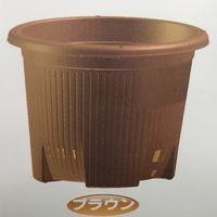 安全興業 AZ菜園プランター丸型380 ブラウン支柱設置パーツ付 4573401041184-12 1箱(12個入)(直送品)