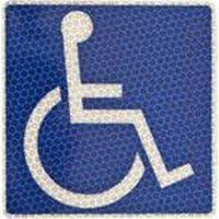 安全興業 車椅子マーク プリズム反射 貼ってはがせるタイプ 4573401041584-10 1箱(10個入)(直送品)