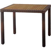 【軒先渡し】桜屋工業 屋外用 ガーデンテーブル エーゲテーブル3型 幅900×奥行900×高さ720mm ナチュラル 1台(直送品)