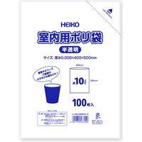 HEIKO 室内用ポリ袋 10L 半透明 100枚/袋 006602710 100枚/袋×20袋(直送品)