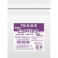 シモジマ スワン ピュアパック T 8.5ー8.5(テープ付き) 006798350 1セット(100枚入×10袋 合計1000枚)(直送品)