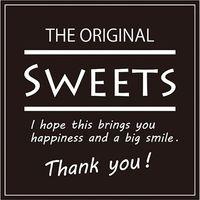 HEIKO ギフトシール Sweets スクエアブラック 1束 007062310 1束×10束(直送品)
