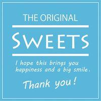 HEIKO ギフトシール Sweets スクエアブルー 1束 007062312 1束×10束(直送品)