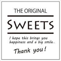 HEIKO ギフトシール Sweets スクエアホワイト 1束 007062311 1束×10束(直送品)