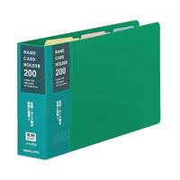 コクヨ 名刺ホルダー(差紙式) 2穴 縦入れ204ポケット 緑 メイー20G 1セット(5冊)(直送品)