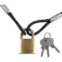 SOL HARD (ソールハード) ワイヤー&パドロック シリンダー錠タイプ(同一鍵) 09300021 1パック 清水(直送品)