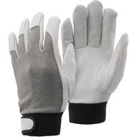 おたふく手袋 K-439 L グレー シープスキン 甲メリマジック 1双(直送品)