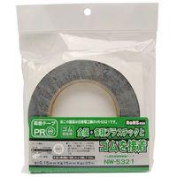 和気産業 ゴム固定用両面接着テープ 厚さ0.15mm×幅15mm×長さ25m NW-5321 1巻(25m)(直送品)