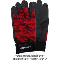 因幡電機産業(INABA) 作業用手袋 赤迷彩 JPF178MRLL 1セット(4双)(直送品)