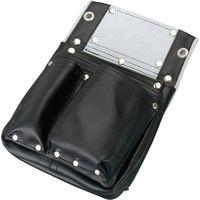 コヅチ 釘袋2段マチ付 黒 SH-601 1個(直送品)