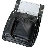 コヅチ 仮枠釘袋3段マチ付 黒 SH-611 1個(直送品)