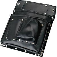 コヅチ 鋲止仮枠釘袋2段マチ付 黒 SH-622 1個(直送品)