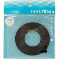 TTC ラインテープ 1.0mm 黒 25-1620 1セット(5個)(直送品)
