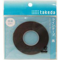 TTC ラインテープ 1.5mm 黒 25-1630 1セット(5個)(直送品)