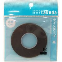TTC ラインテープ 3.0mm 黒 25-1650 1セット(5個)(直送品)