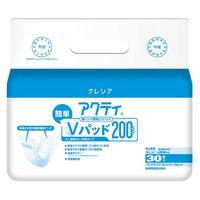 アクティ 紙パンツ用尿取りパッド 簡単Vパッド200 1パック(30枚入)