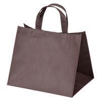 不織布デリバリーバッグ ブラウン W305×H255×D250mm 1セット(50枚)サンナップ【不織布手提げ袋】
