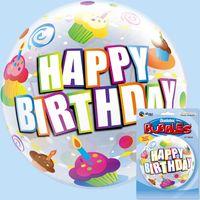 バブルバルーン バースデーカラフルカップケーキ 1セット(5枚入) 0201440058 宝興産(直送品)