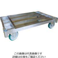 神戸車輌製作所 カンベ アルミ製平床運搬台車200mmキャスター仕様 ALH1275-200 1台 855-0504(直送品)