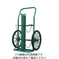 カミマル KS ボンベ運搬車(大車輪型)酸素7000L容器、アセチレン7.0kg容器用 KU-O 1台 452-7933(直送品)