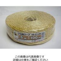 信越工業 ワラ縄ロープ 5MMX100M HR-2710W 1セット(1000m:100m×10巻)(直送品)