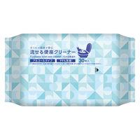 流せるトイレ用便座除菌クリーナー アルコールタイプ 1個(30枚入) 伊藤忠リーテイルリンク