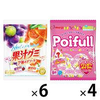 果汁グミ&ポイフルアソートセット 1セット(3種各36個入)