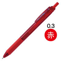 ぺんてる エナージェルエス 0.3mm 赤 BLN123-B 10本