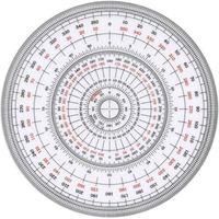 TTC 全円分度器 C-12 12cm 1枚(直送品)