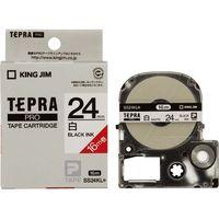 キングジム テプラPROテープSS24KL-5 白に黒字24mm 5個 1箱(直送品)
