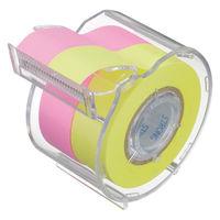 ヤマト ロールテープ強粘着 15mm幅 ローズ&レモン カッター付 1個 PRK-15CH-RL