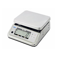 防水型デジタル上皿はかり UDS-600-WPK 3kg 検定品 UDS-600-WPK-3-6 1台 大和製衡(直送品)
