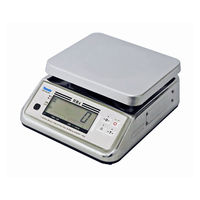 防水型デジタル上皿はかり UDS-700-WPK 3kg 検定品 UDS-700-WPK-3-2 1台 大和製衡(直送品)