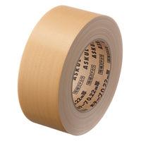 【ガムテープ】「現場のチカラ」 布テープ 1.5倍巻 0.22mm厚 50mm×37.5m 茶 アスクル 1セット(5巻入)