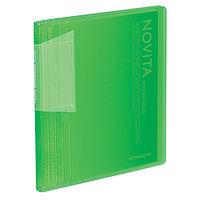 コクヨ ポストカードホルダー<ノビータ> 固定式 A6タテ 60ポケット ライトグリーン ハセーN60LG 1セット(5冊)(直送品)