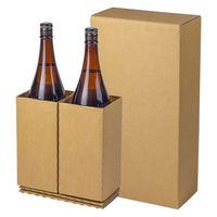 【80サイズ】一升瓶用宅配箱2本用(80サイズ) 縦230×横120×高さ440mm 1梱包(10枚入) 749238 スマイル