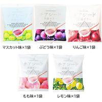 若翔 チアシード蒟蒻ゼリー5種類セット 4901826691099 5袋(ぶどう・りんご・もも・レモン・マンゴー味)(直送品)
