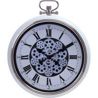不二貿易 掛時計 アナログ時計 ギア L クリーム 27223 1個(直送品)