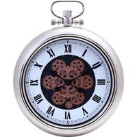 不二貿易 掛時計 アナログ時計 ギア M シャンパン 27225 1個(直送品)