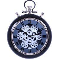 不二貿易 掛時計 アナログ時計 ギア S ブラック 27226 1個(直送品)