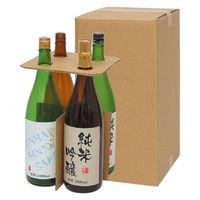【100サイズ】一升瓶用宅配箱4本用 縦238×横235×高さ445mm 1梱包(5枚入) 749240 スマイル