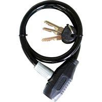池商 自転車用ワイヤーロック 60cm ブラック MP-LK01BK 1個(直送品)の画像