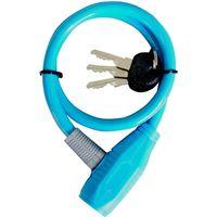 池商 自転車用ワイヤーロック 60cm ブルー MP-LK01BL 1個(直送品)の画像