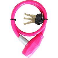 池商 自転車用ワイヤーロック 60cm ピンク MP-LK01PK 1個(直送品)の画像