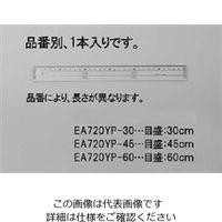 エスコ(esco) 60cm 定規(アクリル製) 1セット(5個) EA720YP-60(直送品)
