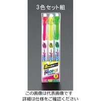 エスコ(esco) 3本組 消せる蛍光ペン 1セット(45本:3本×15組) EA765MH-17(直送品)