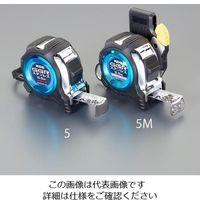 エスコ(esco) 25mmx5.5m メジャー(ステンレス製/ホルダー,マグ爪付 1セット(2個) EA720CA-5M(直送品)
