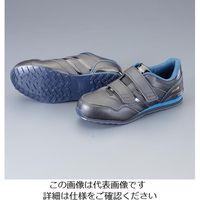 エスコ(esco) 24.0cm プロスニーカー(黒・青) 1セット(2足) EA998WE-24.0(直送品)