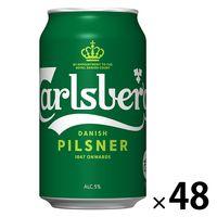 送料無料 (限定デザイン) リバプールデザイン缶 選手サイン付き カールスバーグ 350ml 2ケース(48本) 輸入ビールの画像